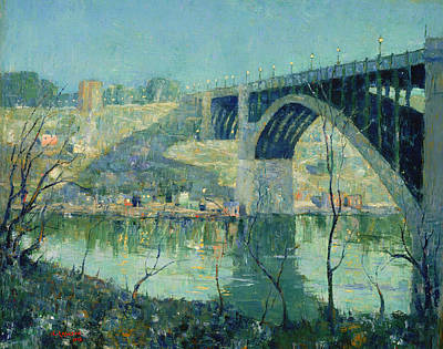 Spring Night On The Harlem River Poster by Mountain Dreams