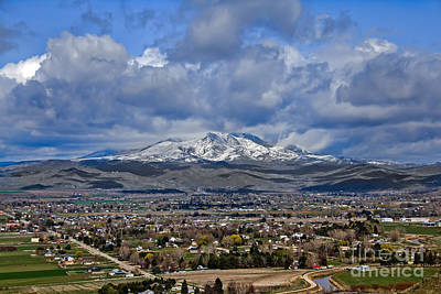 Spring Snow On Squaw Butte Poster by Robert Bales