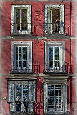 Spring Sunshine In Madrid Poster by Joan Carroll