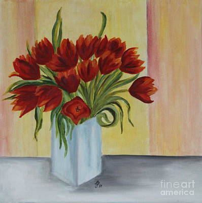 Springflowers - Oil Painting Poster by Christiane Schulze Art And Photography