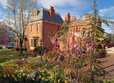Springtime At The Deveroux House In Salt Lake City Poster by Utah Images