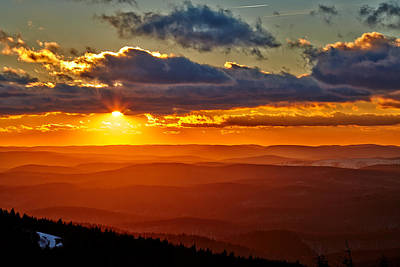 Spruce Knob Sunset Poster by Brian Simpson