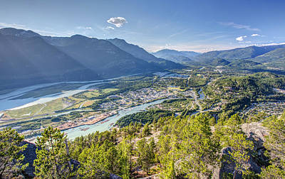 Squamish Town From The Summit Of The Stawamus Chief Poster by Pierre Leclerc Photography