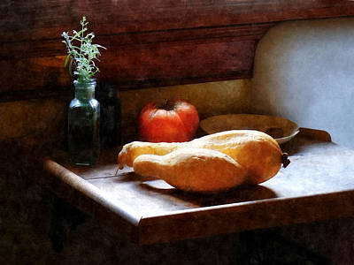 Squash And Tomato Poster by Susan Savad