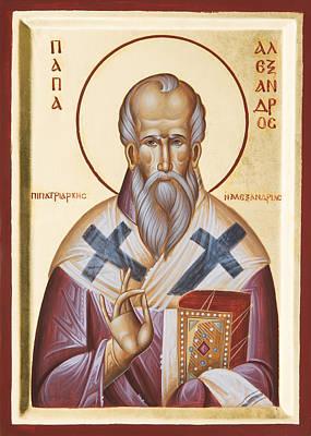 St Alexander Of Alexandria Poster by Julia Bridget Hayes