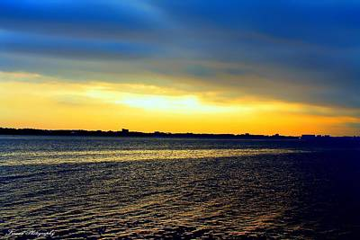 St Andrews Bay Sunset Poster by Debra Forand
