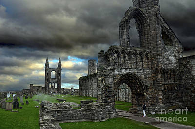 St Andrews Cathedral And Gravestones Poster by RicardMN Photography