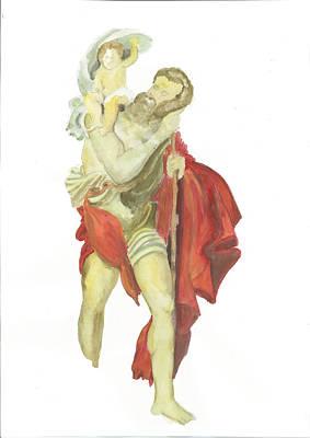 St. Christopher 2  Poster by Marko Jezernik