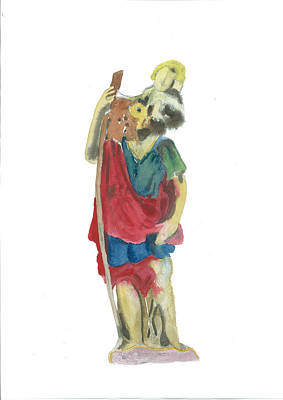 St. Christopher 4 Poster by Marko Jezernik