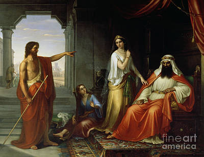 St. John The Baptist Rebuking Herod Poster by Giovanni Fattori