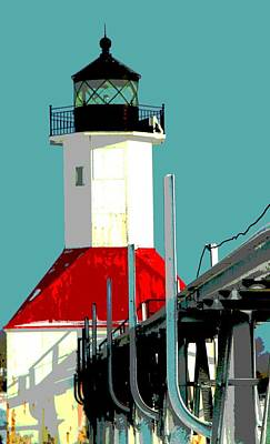 St. Joseph Lighthouse Michigan Poster by Dan Sproul