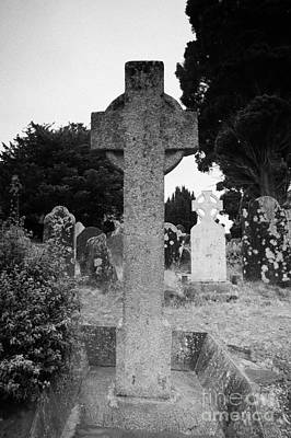 St Kevins Cross High Celtic Cross Grave Stone Glendalough Monastery County Wicklow Republic Of Ireland Poster by Joe Fox