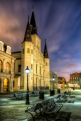 St. Louis Cathedral At Dawn Poster by Tim Stanley