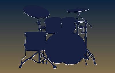 St Louis Rams Drum Set Poster by Joe Hamilton