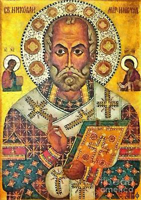 St Nicholas' Icon Poster by Dragica  Micki Fortuna