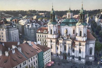 St Nicholas Prague Poster by Joan Carroll