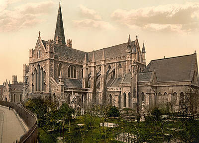 St Patrick's Cathedral - Dublin Ireland 1897 Poster by Mountain Dreams