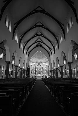 St Patricks Cathedral Fort Worth Poster by Joan Carroll