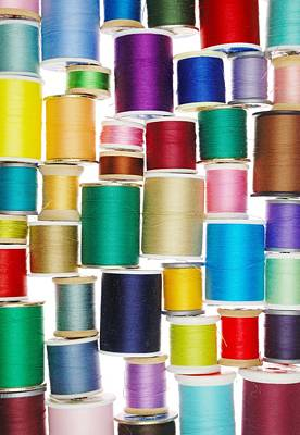 Stack Of Thread Poster by Jim Hughes