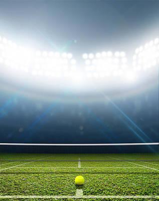 Stadium And Tennis Court Poster by Allan Swart