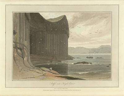 Staffa Coastline Near Fingal's Cave Poster by British Library
