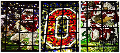 Stained Glass At The Horseshoe Poster by David Bearden
