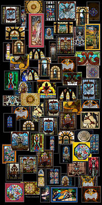 Stained Glass Collage Poster by Thomas Woolworth