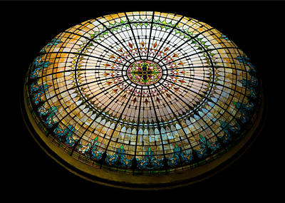 Stained Glass Dome - 1 Poster by Stephen Stookey