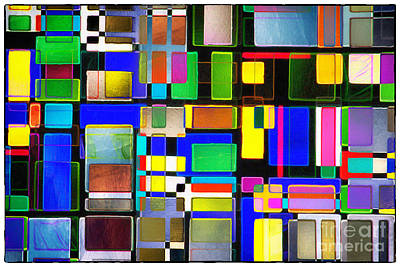 Stained Glass Window II Multi-coloured Abstract Poster by Natalie Kinnear