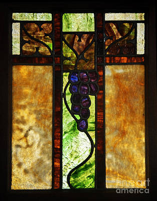 Stained Glass Window Poster by Valerie Garner