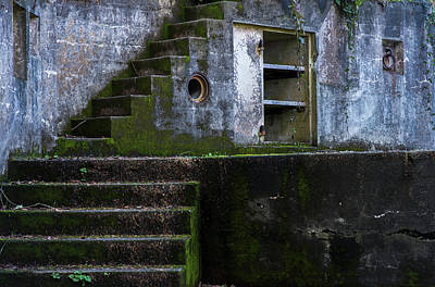 Stairs At Fort Canby  Ilwaco Poster by Robert L. Potts