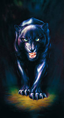 Stalking Panther Poster by Andrew Farley