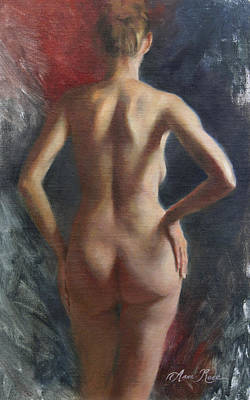 Standing Nude II Poster by Anna Rose Bain