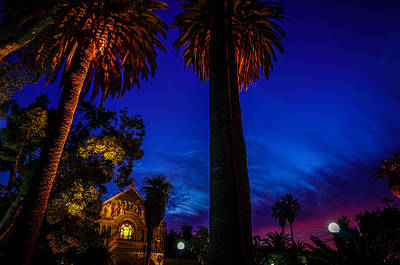 Stanford University Memorial Church At Sunset Poster by Scott McGuire