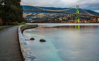 Stanley Park Seawall View Poster by James Wheeler