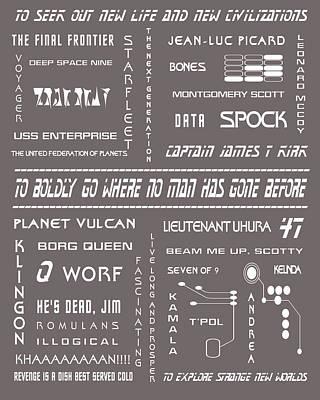Star Trek Remembered In Grey Poster by Georgia Fowler