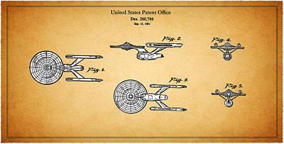 Star Trek - Spaceship Patent 1981 Poster by Mark Rogan
