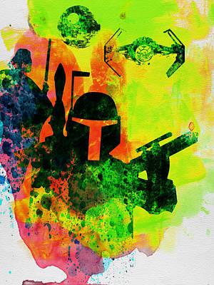 Star Warriors Watercolor 3 Poster by Naxart Studio