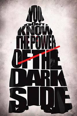 Star Wars Inspired Darth Vader Artwork Poster by Ayse Deniz