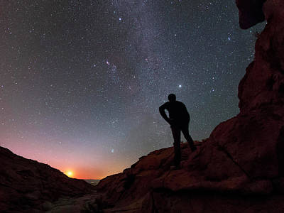 Stargazing In The Atacama Desert Poster by Babak Tafreshi
