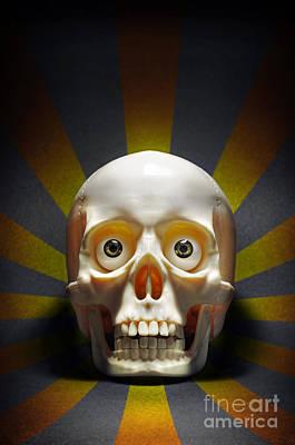 Staring Skull Poster by Carlos Caetano