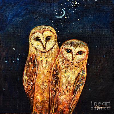 Starlight Owls Poster by Shijun Munns