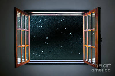 Starry Window Poster by Carlos Caetano