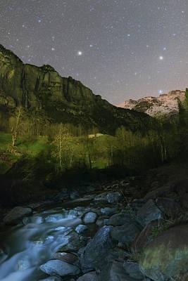 Stars Over Lauterbrunnen Poster by Babak Tafreshi