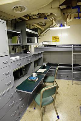 State Room Aboard Battleship Uss Poster by Stocktrek Images