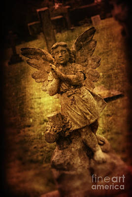 Statue Of Angel Poster by Amanda And Christopher Elwell