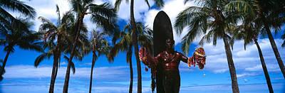 Statue Of Duke Kahanamoku, Duke Poster by Panoramic Images