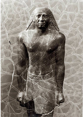Statue Of Mentuemhat, Governor Of Thebes, From The Temple Of Amun, Karnak, Late Period, C.670 Bc Poster by Egyptian 25th Dynasty