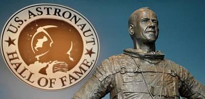 Statue Of Us Astronaut Alan Shepard Poster by Tony Craddock