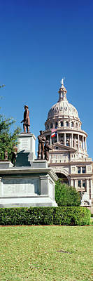 Statue With A Government Building Poster by Panoramic Images